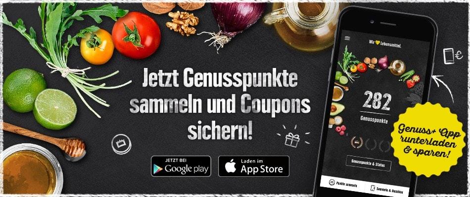 Die Genuss+ App belohnt Ihre Treue