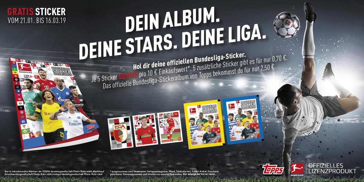 Offizielle Bundesliga-Sticker von Topps