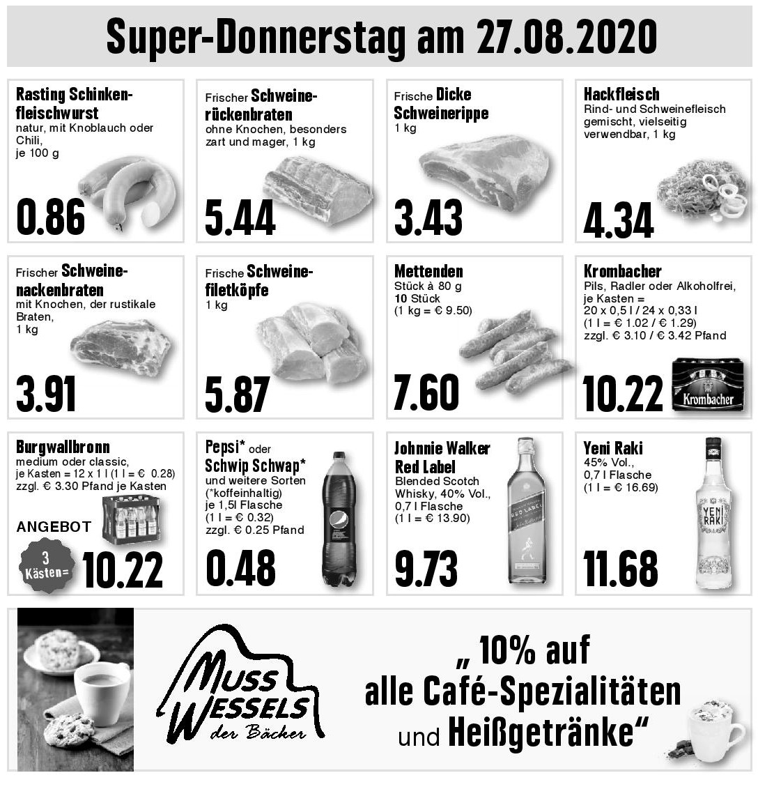 Super-Donnerstag am 27.08.2020!