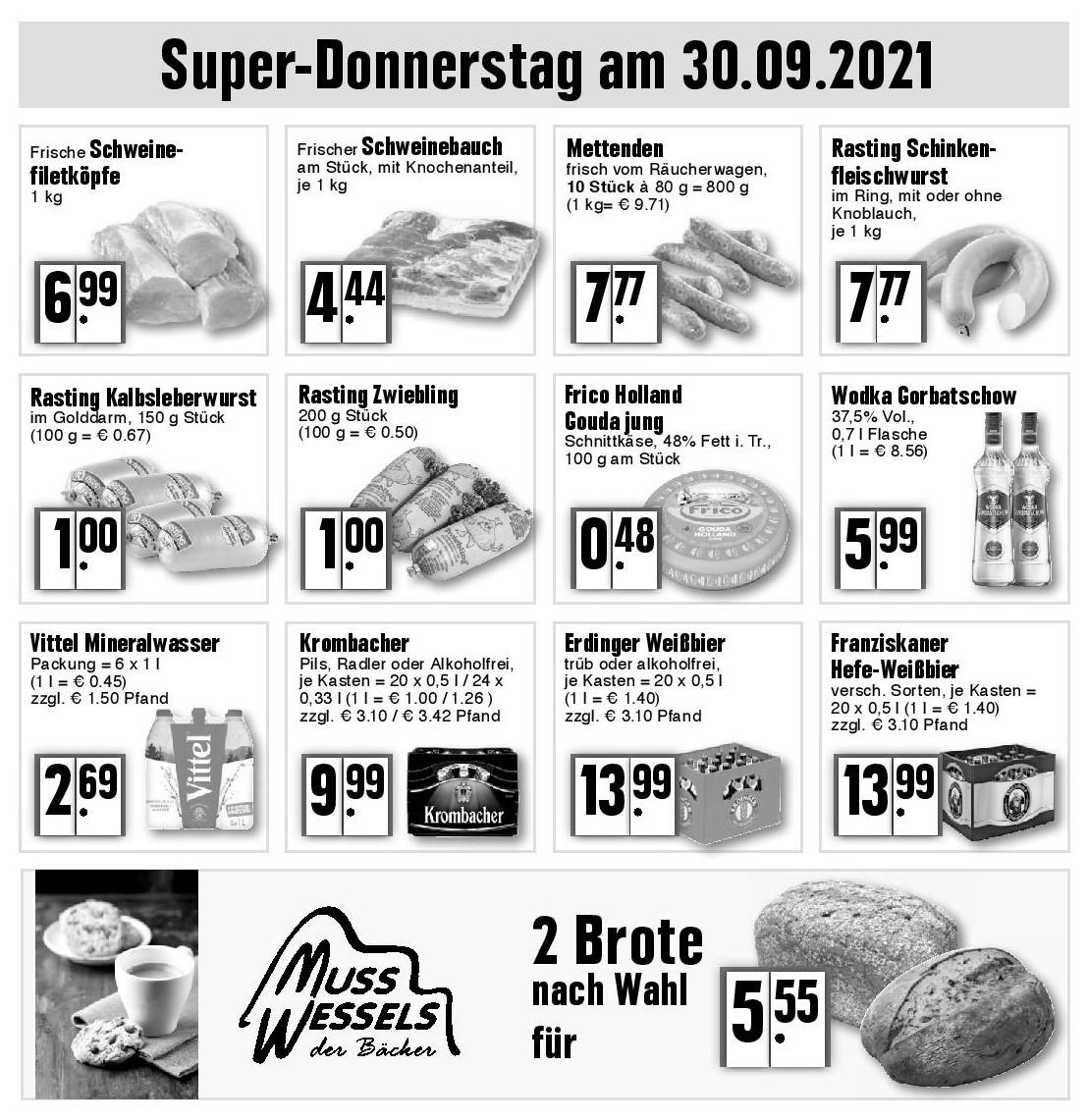 Super Donnerstag am 30.09.2021